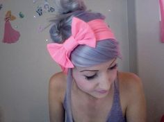 Love the colour and cute fringe and bow! pastel lilac/ lavendar/ violet hair