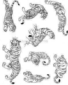 """Résultat de recherche d'images pour """"korean tiger tattoo"""""""