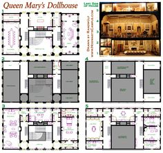 Queen Mary's Dollhouse Floor Plan, the real thing is in Windsor castle - saw it when I was a little girl, it made me drool