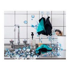 IKEA - АНВЭНДБАР, Тряпка кухонная, Кухонную салфетку можно стирать в стиральной машине.Кухонная салфетка хорошо впитывает влагу и не повреждает поверхность, поэтому ее можно использовать на столах и рабочих поверхностях из любых материалов.С петелькой для подвешивания.