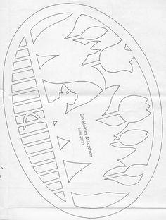 jarní vystřihovánka - My site Paper Pot, New Pins, Paper Cards, Paper Cutting, Crafts To Make, Free Pattern, Stencils, Projects To Try, Easter