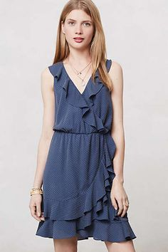 Anthropologie - Dotted Ruffle Dress