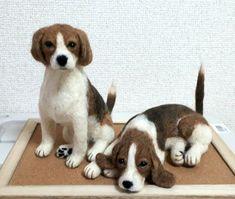 needle felted beagle