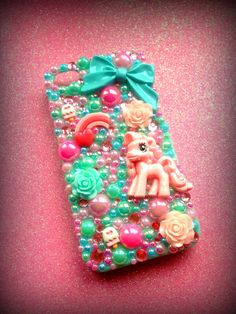iPhone 4/4s My Little Pony Rose Candy Decoden Case. by sorayraya, £19.99