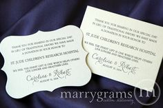 Wedding Favor Donation Cards - In Lieu of Favors Reception Place Card - Custom Donation Table Cards, In Memory Donate Note Cards - SS01 on Etsy, $37.50