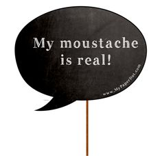 Movember Photo Props - 2 pack