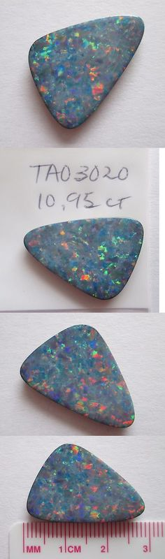 Doublets 10240: 10.95 Ct Australian Opal Doublet W Queensland Boulder Backing # Tao 3020 -> BUY IT NOW ONLY: $240 on eBay!