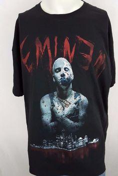 681a37362 Eminem Slim Shady Rap Hip Hop Detroit Skyline Jason Mask Bloody T-Shirt  Size XL #Eminem #hiphop