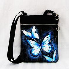 crossbody-modří motýlci Lunch Box, Bento Box