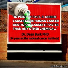 In point of fact, fluoride causes more human cancer death, and causes it faster than any other chemical