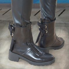 Leather Boots, Combat Boots, Bootie Boots, Booty, Luxury, Shoes, Women, Fashion, Moda