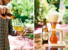 Duvel and Kwak Belgian beers in Flemish Flavours' summer garden. Advertising Photography by Evangeline Aguas