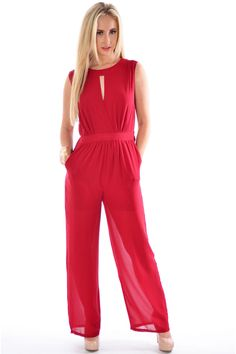 Pop Couture - Zayit Culotte Style Sleeveless Jumpsuit In Wine, £38.00 (http://www.popcouture.co.uk/clothing/zayit-culotte-style-sleeveless-jumpsuit-in-wine/)