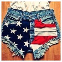 Vintage American Flag Shorts @Savana Elizabeth West Elizabeth West Neeley