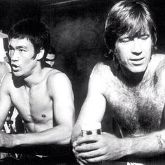 Chuck Norris and Bruce Lee from back in the day.