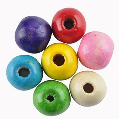 LNRRABC 12mm/14mm/16mm Mix color DIY/Handmade Round Ball Natural Wood Beads for Jewelry Making Wholesale  Free Shipping #Affiliate