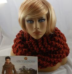 Handmade LION BRAND Official Outlander INVERNESS INFINITY Scarf Cowl SPICE Thick #LionsBrand #WoolEaseThickandQuick