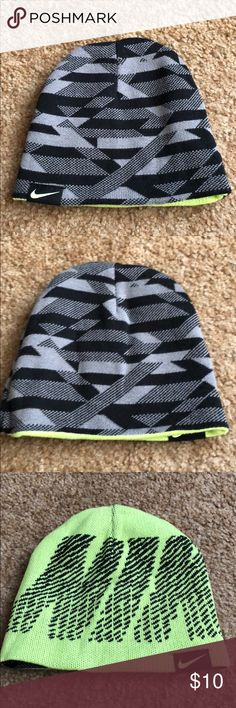 Nike Unisex Athletic winter beanie Heat up the winter season with this Unisex Nike beanie featuring an artic fleece construction that traps heat in. Embroidered Nike swoosh FIT & Sizing One size fits most Fabric & Care Polyester Hand wash Imported Size: Onesize. Nike Accessories Hats
