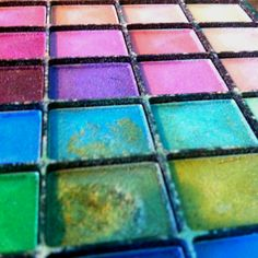 DIY temporary hair dye: take what ever color eye shadow you want, and mix it with clear hair gel! Simple and easy.