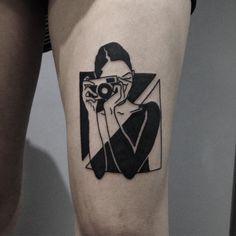 B/W Fuck Yeah !!! On @carmne #tattoo #tattoos #tattooartist #tatouage…