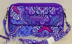 NWT Vera Bradley all in one crossbody and wristlet for iPhone 6+ Lilac Tapestry…