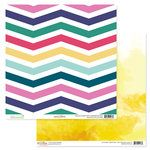 Glitz Design - Wild and Free Collection - 12 x 12 Double Sided Paper - Chevron