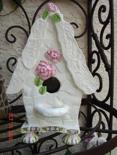Items similar to One of a Kind COTTAGE STYLE MOSAIC Bird House Collector Piece on Etsy