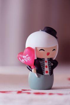 White hair #momiji #doll #kokeshi #love #kawaii