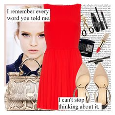"""""""Remember Me?"""" by summerjazlyrics ❤ liked on Polyvore featuring Rimmel, Christian Dior, Sephora Collection, Dolce&Gabbana, Alice + Olivia and Alibi"""