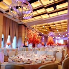 Everything is in place for Gary and Samantha's elegant reception at Four Seasons Hotel Hong Kong.