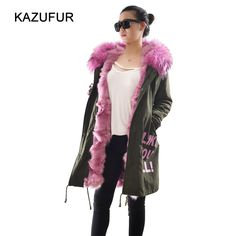 Check out this product on Alibaba.com APP Women fur parka coat fabric fur parka with fashion letters real fox fur lined parka