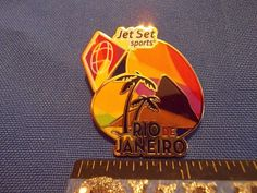 2016 Rio Olympic Sponsor Pin CoSport Sugarloaf and Palm Trees Rare Pin