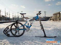La bicicletta da neve - http://www.funnydrivers.it/soluzioni-dingegno/la-bicicletta-da-neve/
