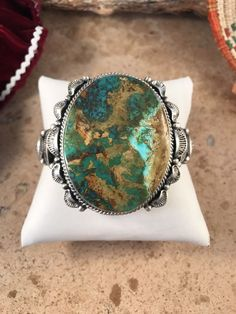 Royston Turquoise & Sterling Silver Cuff Signed