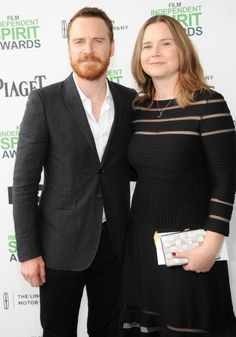 Michael and his older sister, Catherine - Independent Spirit Awards 3.1.14