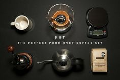 The Perfect Pour Over Coffee Set | Man Made DIY | Crafts for Men | Keywords: goods, recipe, kitchen, Coffee