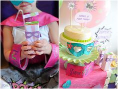 ADORABLE Girly Super Hero Party! on http://pizzazzerie.com