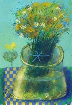 Новости Art Floral, Blue Horse, Fantasy Paintings, Plant Illustration, Flower Vases, Love Art, Still Life, Surrealism, Abstract Art