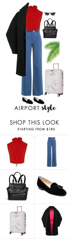 """Simple airpot style"" by silllas ❤ liked on Polyvore featuring SemSem, Marc Jacobs, Givenchy, Jon Josef, Ted Baker and Dsquared2"