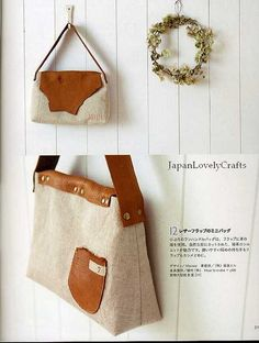 CLOTH AND LEATHER BAG - JAPANESE SEWING PATTERNS BOOK FOR BAGS - HEART WARMING LIFE SERIES 16   Flickr : partage de photos !