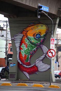 Street art 289.  000 fish