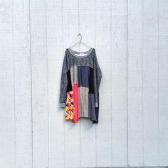 upcycled tunic Dress / romantic Upcycled / Patchwork Dress / Funky Tunic Dress / Eco Dress / Artsy Dress by CreoleSha by CreoleSha on Etsy