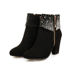online shopping for CYBLING Women's Shiny Rhinestone Daily Boots Fashion Wedding Party Chunky Heel Dress Ankle Booties from top store. See new offer for CYBLING Women's Shiny Rhinestone Daily Boots Fashion Wedding Party Chunky Heel Dress Ankle Booties Chunky Heel Ankle Boots, Wedge Boots, High Heel Boots, Suede Booties, Chunky Heels, Ankle Booties, Heeled Boots, High Heels, Cute Boots