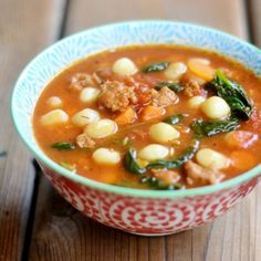 Bursting with great flavors and lots of color, this is the perfect soup for Fall. It'll warm you up on a chilly night and fill your belly.