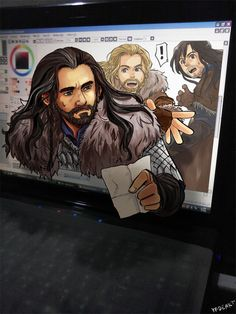 Thorin lost his way ..again THIS IS SO COOL #the hobbit #fanart