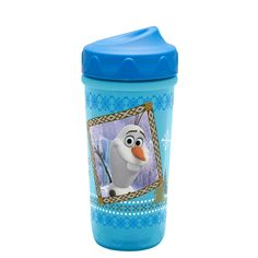 Adjust the Disney Frozen toddler cup flow as your child grows!   Simply twist the patented adjust-a-flow valve to select the liquid flow that is perfect for your child  Spill-proof valve  Insulated anti-sweat design with double-wall construction  Easy to use adjust-a-flow valve simply pops in and out for easy cleaning