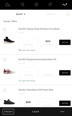 Mobile Ui Design, Yeezy Boost, Android Ui, Bar