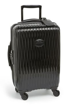 Free shipping and returns on Longchamp \u0026#39;Fairval\u0026#39; Four-Wheel Hard Shell Carry-On Inch) at A pleated, scratch-resistant hard-shell case is designed for ...