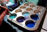 Create beautiful DIY faux stained glass the simple way! I love this method of mixing paint and glue to create something unique. This easy stained glass project is even more fun with a good pattern. Stained Glass Paint, Making Stained Glass, Stained Glass Projects, Stained Glass Patterns, Stained Glass Windows, Glass Painting Patterns, Making Glass, Wood Windows, Mosaic Patterns