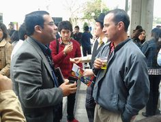Nuestro director de proyectos con Esteban Clua, director del Media Lab de la Universidad Federal Fluminense.